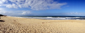 At the beach (a few km north of An Bang)