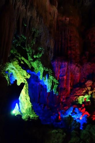 Cave disco lighting