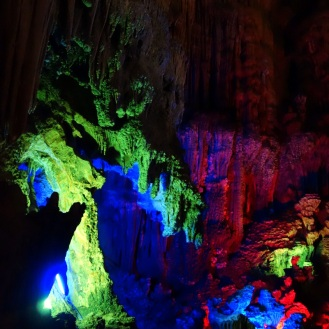 Cave disco lighting