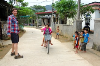 We found were everyone lives! Walking around Son Trach village