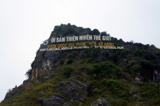 National park sign, hollywood style on a mountain outside of town
