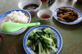 Com Ga Lunch after a long hunt