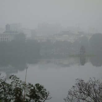 Misty Hoan Kiem Lake morning