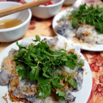 Banh Cuon (fresh rice rolls)