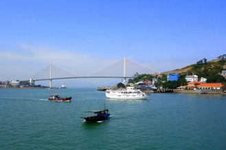Leaving Halong City (with nice looking cable-stayed bridge in the background)