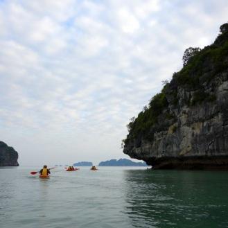 Kayaking in Bai Tu Long Bay