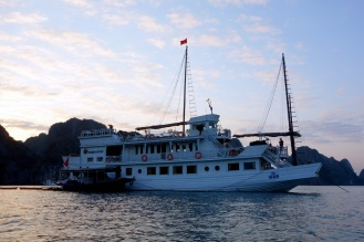 The Dragon's Pearl anchoring or the night