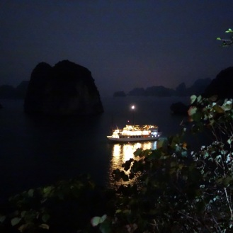 Dragon's arl at night (view from the cave entrance)
