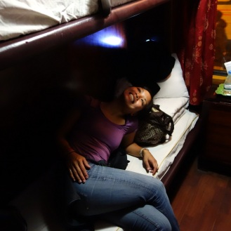 Inside our sleeper compartment