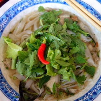 Delicious noodle soup.