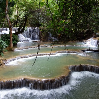 Lower falls at Kuang Si