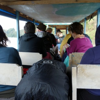 The river boat: not presience of chairs for other passengers