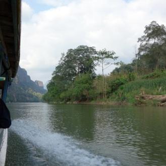 Continuing upriver