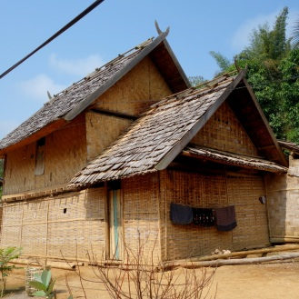 Small lao village visisted enroute to waterfall
