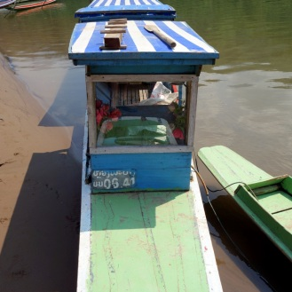 Typical long-tailed river boat