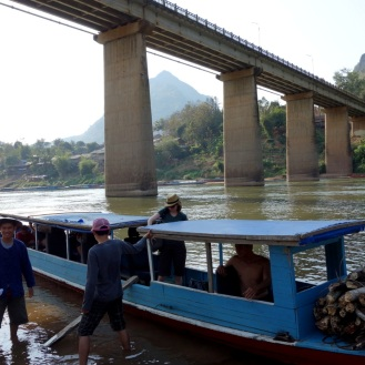 Arrived back in Nong Khiaw below the bridge.