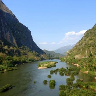 Nam Ou river from the bridge