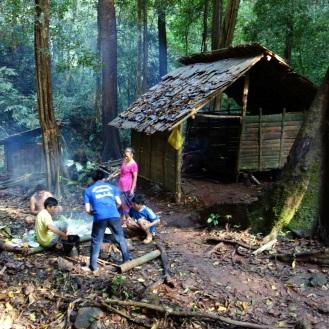 Guides preparing dinner