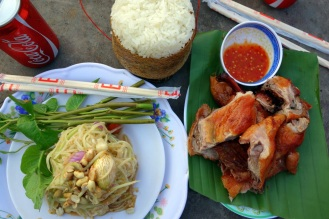 Roasted duck and papaya salad