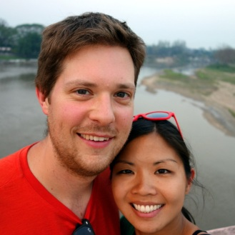 Biking over the river in Chiang Rai