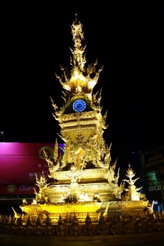 Chiang Rai glitzed out clock tower