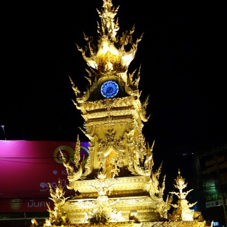 Chiang Rai glitzed out clock tower