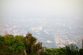 Hazy view from Wat Phra That