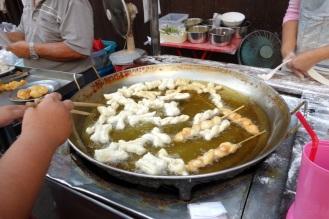 Breakfast fritters in Gat Luang