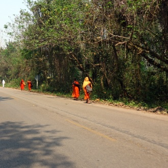 Monks while doing the Samoeng Loop by motorcycle