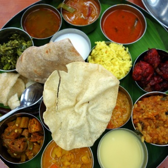 Ridiculously massive vegetable thali lunch