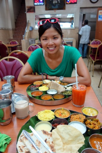 Vegetable thali lunch