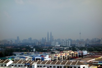 KL skyline from Batu Caves