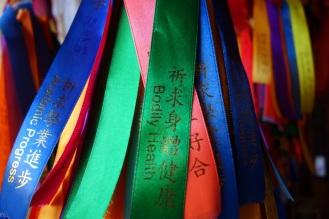 Bodily health ribbon in Kek Lok Si temple