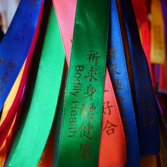 Bodily health ribbon in Kek Lok Si temple