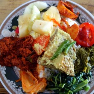 Andrea's nasi padang plate