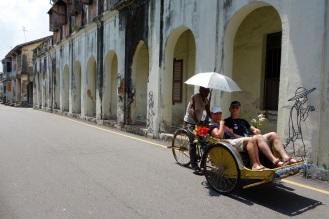 Pedicab and public art