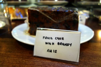Brandy fruit cake at China House (we didn't try it... its strange to have fruitcake somehow when it is 35 degrees out)