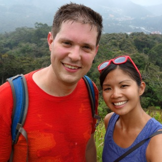 Steamy walk up a hill on another trek. This is how Jesse looks 90% of the time in Asia (drenched in sweat)