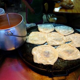 Rotis being made.