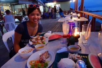 Barbecue (squid) dinner