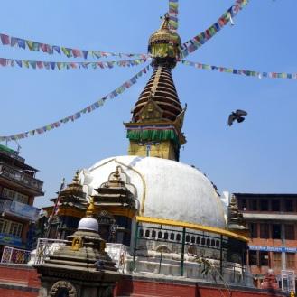 Courtyard stupa.