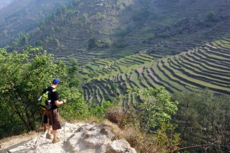 And down we go. Beautiful terraces everywhere.