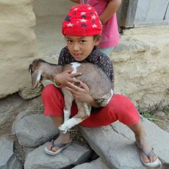 Kid with a kid. So cute