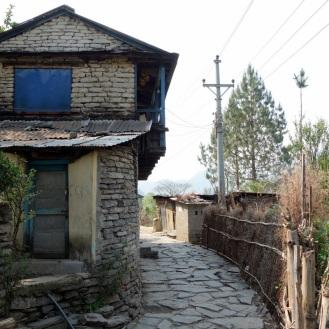 Walking through another village.