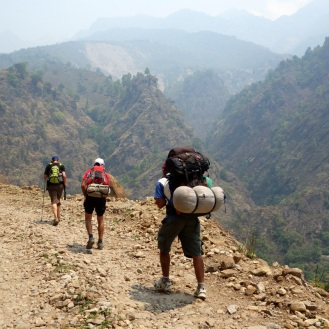 Climbing on the main road up to Jagat.