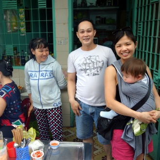 With our friends at the Bun Thit Nuong stall
