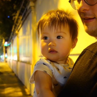 Our for an evening stroll in Saigon
