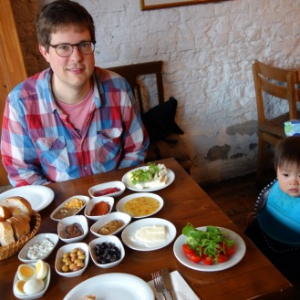 Our favourite Istanbul Breakfast (Daniel not impressed...yet)