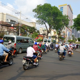Motorcycles everywhere...