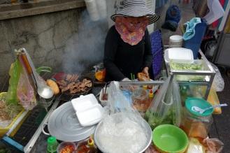 grilled pork chop banh mi lady!